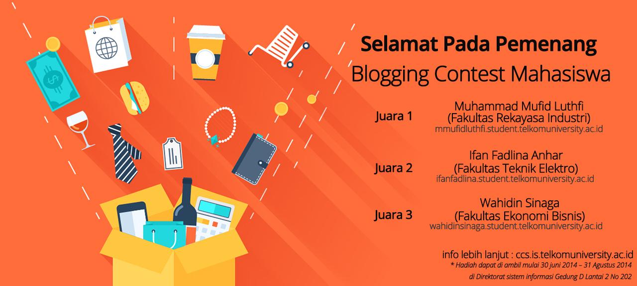 Pemenang Lomba Blog Mahasiswa